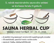 Wellness Hotel Frymburk zve na Sauna Herbal Cup 2018