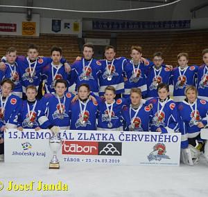 HC Tábor vybojoval na domácím Memoriálu Zlatka Červeného pro ročníky 2005 a mladší druhé místo. , Autor: Josef Janda